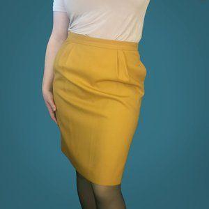 Vintage Mustard Midi Skirt